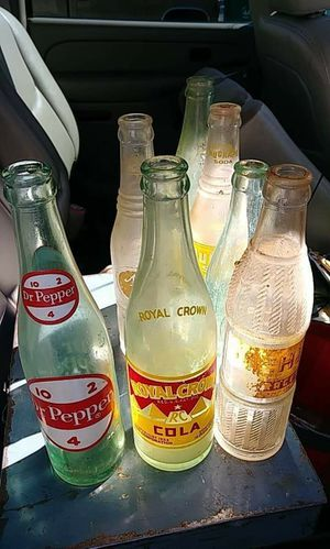 Antique glass drink bottles. Early 1900's for Sale in Stone Mountain, GA