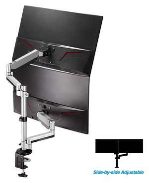 """AVLT-Power Dual 32"""" Monitor Stackable Desk Stand - Mount Two 17.6 lbs Computer Monitors on 2 Full Motion Adjustable Arms for Sale in Seattle, WA"""