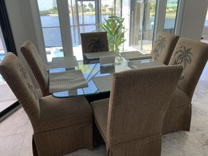 Kitchen Table Set with Six Chairs for Sale in Punta Gorda, FL