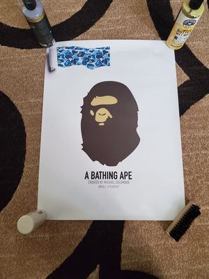 Supreme, bape, hypebeast poster. BRAND NEW 24X18 for Sale in Clovis, CA