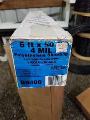 6x50 4mil black plastic for Sale in Hillsboro, OR