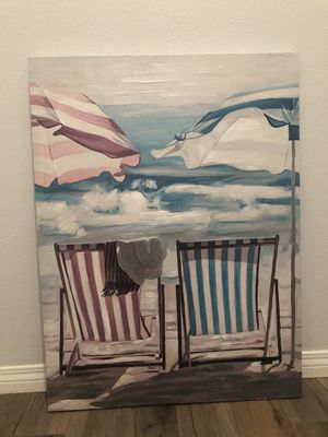 Beach Chair Canvas Frame - 30 x 40 for Sale in Fontana, CA