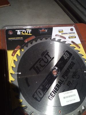 Ti-cut timberline saw blades 10-40t for Sale in Cleveland, OH