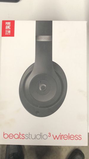 Beats Studio3 wireless headphone, black for Sale in Columbus, OH