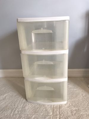 Plastic 3 Drawer Clear Set for Sale in Westchester, CA
