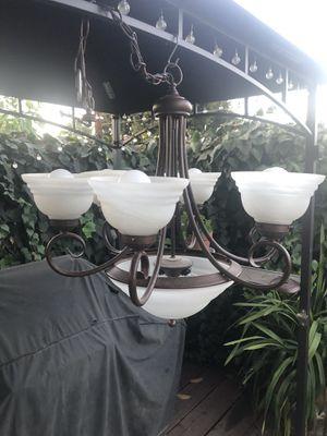 7 Light - Glass Chandelier for Sale in Hacienda Heights, CA