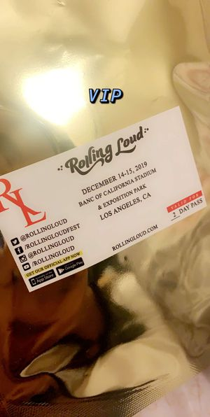 Rolling loud 2 VIP Passes for Sale in South Gate, CA