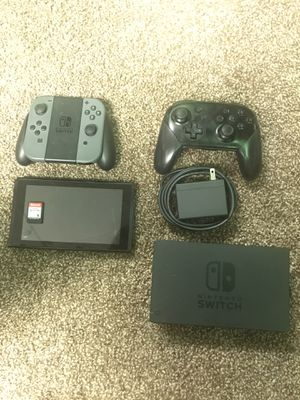Nintendo Switch w/ Smash Bros, Pro Controller for Sale in Washington, DC
