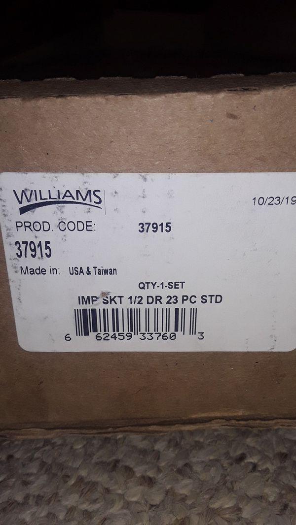 "Williams Tools #37915 Metric Impact Socket Set 1/2"" Drive"