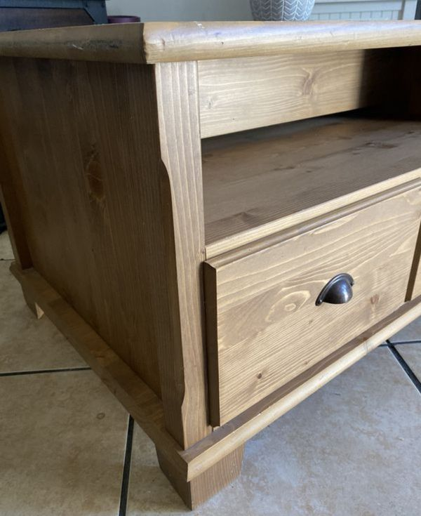 Solid Wood Floor Shelf Coffee Table with Storage