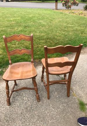 2 wood chairs for Sale in Kent, WA