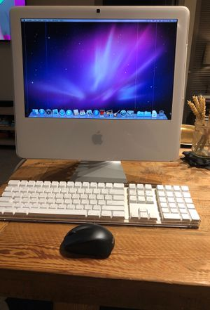 IMac, Intel Core 2 Duo Professor (2 GHz), 2gb of Memory w/ Apple Bluetooth keyboard and Logitech wireless mouse. for Sale in Forest Heights, MD
