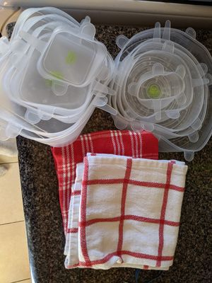 Silicone lids and kitchen towels for Sale in Washington, DC