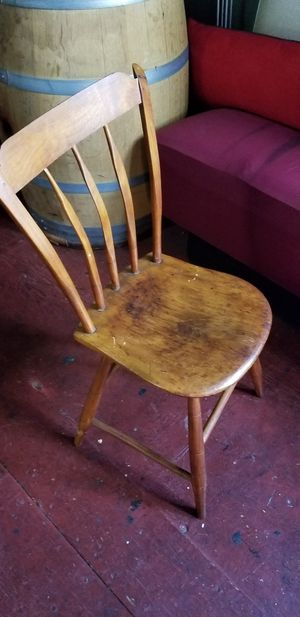 Mid 1800s antique wooden slatback sidechair for Sale in San Francisco, CA