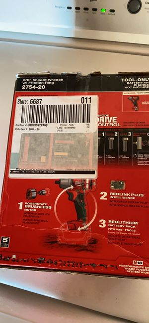"""Milwaukee m18 3/8"""" impact wrench!! Brand new (tool only) for Sale in Bakersfield, CA"""
