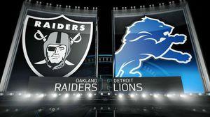Raiders vs Lions - 2 Tix, 50-Yard Line! for Sale in Lathrop, CA