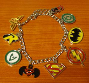 Justice League Charm Bracelet - Batman, Superman, Wonder Woman, etc for Sale in San Jose, CA