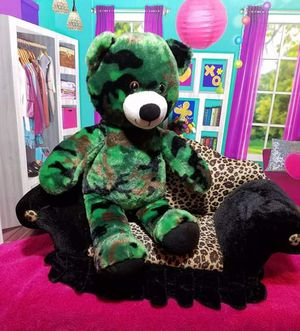 """16"""" Build a Bear Camouflage Teddy Green Plush Military Army Stuffed BABW Toy for Sale in Dale, TX"""