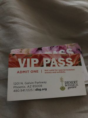In selling desert botanical garden admission tickets good for anyday for Sale in Scottsdale, AZ