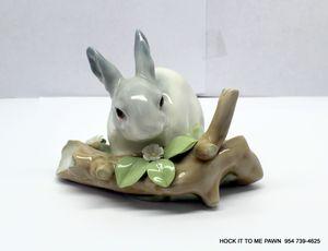 LLADRO Bunny Rabbit Crouched By Log Figurine for Sale in Tamarac, FL
