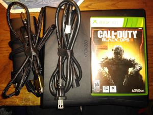 Black xbox360 console with HDMI and power supply for Sale in Parkersburg, WV