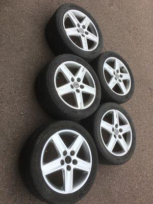 Set Michelin's tires & set rims for Audi a4 quattro 2004-2008 for Sale in Tea, SD