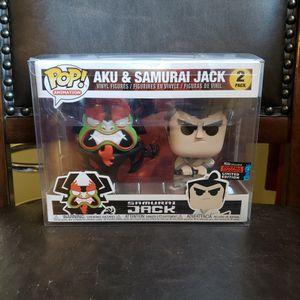 Funko Pop AKU & SAMURAI JACK 2PACK ( POP PROTECTOR) for Sale in Ontario, CA