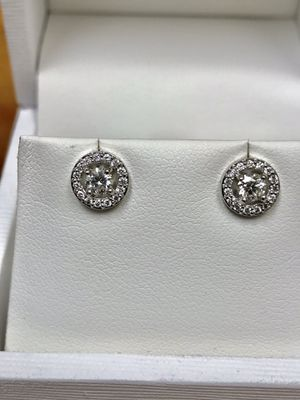 Diamond earrings half carat total diamond weight for Sale in Shelby Charter Township, MI