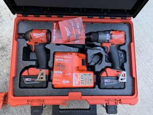 Milwaukee View the Collection M18 FUEL 18-Volt Lithium-Ion Brushless Cordless Hammer Drill and Impact Driver Combo Kit (2-Tool) with Two 5Ah Batteries for Sale in La Mirada, CA