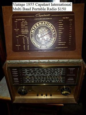 Vintage 1955 Capehart International Multi Band Portable Radio $150 for Sale in Dresden, OH
