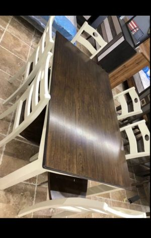 ⬇️ 39 DOWN PAYMENT ☆ Brand New Cream/Brown 7-Piece Dining Set》Table & 6 Side Chairs 🚚 SAME-DAY DELIVERY for Sale in Houston, TX