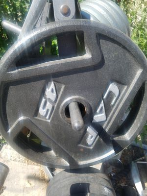 EXERCISE FITNESS NEW CONDITION PAIR OF CAP 45 LBS WEIGHTS for Sale in Long Beach, CA
