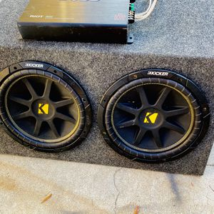 $220 No Less - No Menos / Kicker Comp 12s / 1200 Watt Boss / New Sub Box for Sale in Sanger, CA