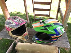 Dirt bike helmets. 25 bucks! for Sale in Syracuse, UT