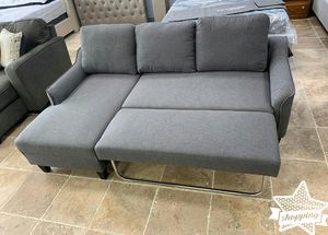 Brand New Gray Sofa Chaise Sleeper for Sale in Houston, TX
