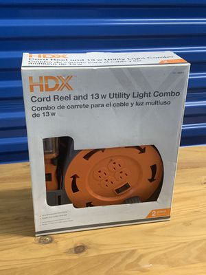 HDX cord reel and utility light for Sale in Reston, VA
