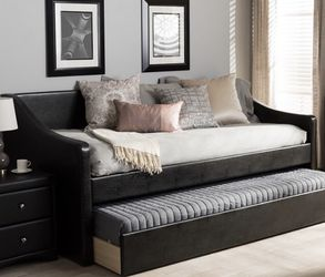 Leather Day Bed With Trundle, limited use. for Sale in Livonia,  MI