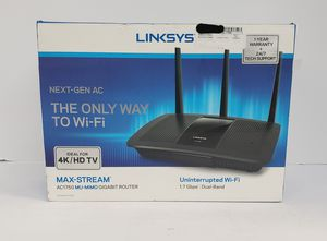 Brand New Linksys Next- Gen AC The Only Way to Wi-Fi Max- Stream AC1750 MU- MIMO GIGABIT ROUTER EA7300 for Sale in Miami, FL
