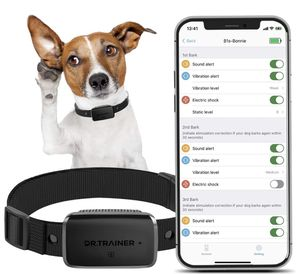 Dr.Trainer B1s Dog Bark Collar with APP Control, Waterproof Dog Training Collar, 3 Training Modes (Vibration/Beep/Shock Modes) Adjustable 0~99 Static for Sale in Santa Ana, CA