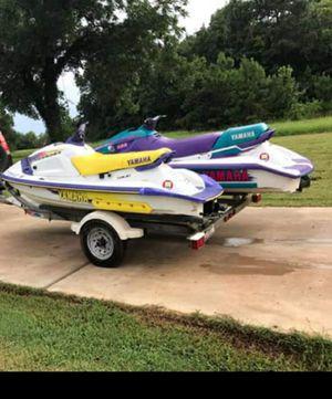 Yamaha jet skis & trailer - trade for jon boat, mud motor or kayak for Sale in Houston, TX