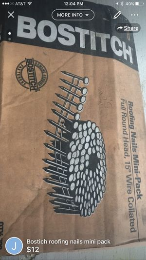 Bostich roofing nails mini box for Sale in Gulfport, MS