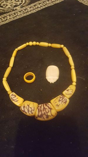 Bake a lite necklaces with matching bracelet and ring for Sale in St. Louis, MO