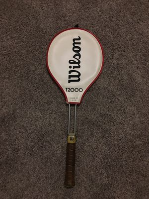 Vintage Wilson T2000 Tennis Racket and Cover for Sale in La Vergne, TN