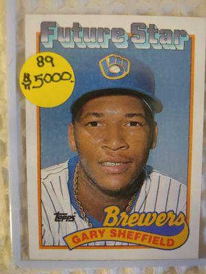 Gary Sheffield Topps Rooky Baseball Card for Sale in Seattle, WA