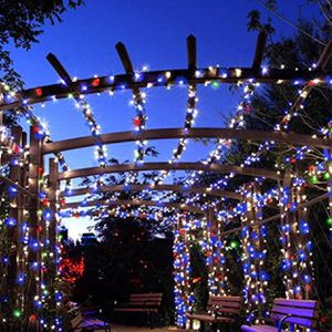200 LED solar copper wire string decorative garden lamp party lamp fairy light tree gazebo tent- Multi Color for Sale in Ontario, CA