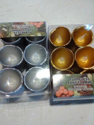 Ashland 12 Flameless votive Light Candle Christmas Collection silvr gold glitter for Sale in San Bernardino, CA