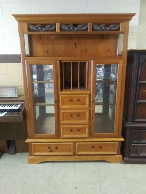 Oversized Curio/Entertainment Cabinet for Sale in Norfolk, VA