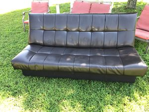 Leather Futon with storage (Brown) for Sale in Suffolk, VA