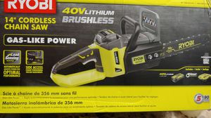 "Ryobi 40v lithium brushless 14"" Cordless Chainsaw for Sale in College Park, GA"