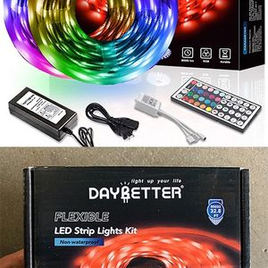 (NEW) $25 DAYBETTER Led Strip Lights 32.8ft Flexible Tape 5050 RGB 300 Color Changing Kit (44 Key Remote) for Sale in South El Monte, CA